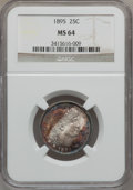 Barber Quarters: , 1895 25C MS64 NGC. NGC Census: (45/31). PCGS Population (50/31).Mintage: 4,440,880. Numismedia Wsl. Price for problem free...