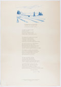 Books:Prints & Leaves, [Broadside]. Elizabeth Bishop. SIGNED/LIMITED. North Haven.Lord John Press, 1979. Limited to 150 numbered and...