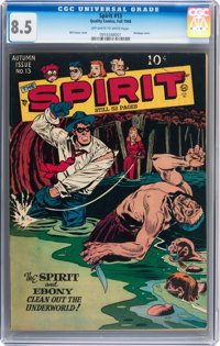 The Spirit #13 (Quality, 1948) CGC VF+ 8.5 Off-white to white pages
