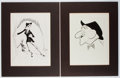 Books:Prints & Leaves, Group of Two Hirschfeld Prints. Approx. 11.75 x 8.5 inches. Matted.Good....
