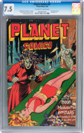 Golden Age (1938-1955):Science Fiction, Planet Comics #41 (Fiction House, 1946) CGC VF- 7.5 Off-white to white pages....