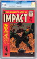 Golden Age (1938-1955):Horror, Impact #4 Gaines File Copy pedigree (EC, 1955) CGC VF/NM 9.0Off-white to white pages....