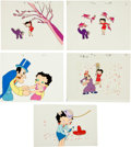 Animation Art:Limited Edition Cel, Betty Boop Production Cel Animation Art Group (c. 1960s)....(Total: 17 Original Art)