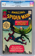 Silver Age (1956-1969):Superhero, The Amazing Spider-Man #7 (Marvel, 1963) CGC NM- 9.2 Cream tooff-white pages....