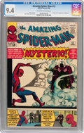 Silver Age (1956-1969):Superhero, The Amazing Spider-Man #13 (Marvel, 1964) CGC NM 9.4 Off-white towhite pages....