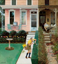 Paintings, JOHN PHILIP FALTER (American, 1910-1982). Sunday Gardening, The Saturday Evening Post cover, July 1, 1961. Oil on panel...