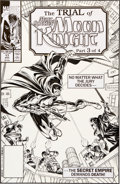 Original Comic Art:Covers, John Romita Sr., Sal Velluto and Tom Palmer Marc Spector MoonKnight #17 Cover Original Art (Marvel, 1989)....