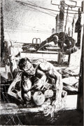 Original Comic Art:Covers, Bill Sienkiewicz Ultimate Marvel Team-Up #8 Punisher, Spider-Man, and Daredevil Cover Original Art (Marvel, 2001)...