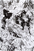 Original Comic Art:Splash Pages, Al Rio Silver Surfer Specialty Pin Up Original Art(2003)....