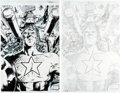 Original Comic Art:Covers, Trevor Hairsine and Nelson DeCastro Ultimate Nightmare #2Cover Original Art Group (Marvel, 2004).... (Total: 2 Items)