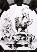 Original Comic Art:Covers, Jim Mooney Spider-Man, and Daredevil vs. the Thing Pin-UpOriginal Art (2003). ...