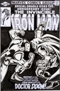Original Comic Art:Covers, Bob Layton Iron Man #150 Doctor Doom Cover Re-CreationOriginal Art (undated)....
