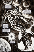 Original Comic Art:Panel Pages, John Buscema and Geof Isherwood Silver Surfer #110 SplashPage 22 Original Art (Marvel, 1995)....