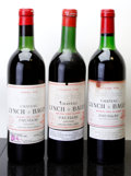 Red Bordeaux, Chateau Lynch Bages. Pauillac. 1961 ts, lbsl Bottle (1).1966 vhs, bsl, nl, sdc Bottle (1). 1982 vhs, lnl, w... (Total: 3Btls. )