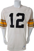 Football Collectibles:Uniforms, 1977 Terry Bradshaw Game Worn Pittsburgh Steelers Jersey, MEARS A10....