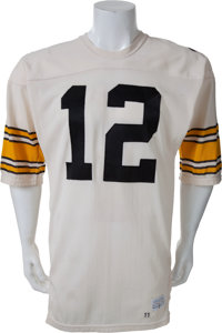 844e9ed6405 1977 Terry Bradshaw Game Worn Pittsburgh Steelers Jersey