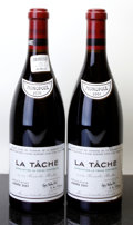 Red Burgundy, La Tache 2001 . Domaine de la Romanee Conti . 2lbsl, 1lnl, #04339, 04341. Bottle (2). ... (Total: 2 Btls. )