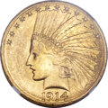 Indian Eagles, 1914-S $10 MS63 NGC....