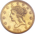 Liberty Eagles, 1839 $10 Type of 1838, Large Letters XF40 PCGS. Gold CAC....