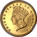 Gold Dollars, 1880 G$1 MS66+ ★ Prooflike NGC. CAC....