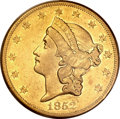 Liberty Double Eagles, 1852-O $20 XF45 PCGS. Variety 1....