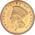 Three Dollar Gold Pieces, 1884 $3 MS64 PCGS....