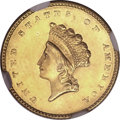 Gold Dollars, 1854 G$1 Type Two MS62 NGC....