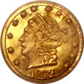 California Fractional Gold, 1872 25C Liberty Round 25 Cents, BG-816, R.6, MS65 PCGS....