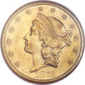 Liberty Double Eagles, 1873-CC $20 AU53 NGC....