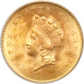 Gold Dollars, 1854 G$1 Type Two MS66 PCGS. CAC....