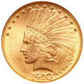 Indian Eagles, 1910-D $10 MS65 NGC....