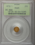 California Fractional Gold, 1872/1 25C Indian Round 25 Cents, BG-868, High R.4, MS65 PCGS....