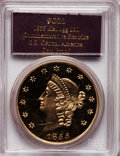 "2001 $50 SSCA Relic Gold Medal ""1855 Kellogg & Co. Fifty"" Gem Proof PCGS. ...(PCGS# 10358)"