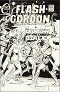 Original Comic Art:Covers, Pat Boyette Flash Gordon #15 Cover Original Art (Charlton,1969)....