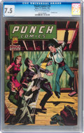Golden Age (1938-1955):Crime, Punch Comics #18 (Chesler, 1946) CGC VF- 7.5 Cream to off-white pages....