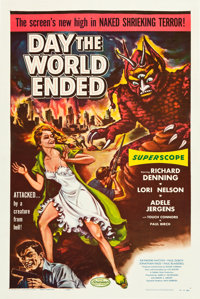"Day the World Ended (American Releasing Corp., 1956). One Sheet (27"" X 41""). Science Fiction"