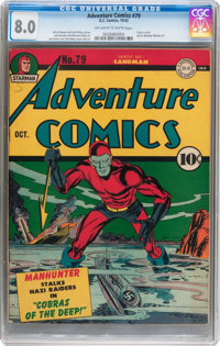 Adventure Comics #79 (DC, 1942) CGC VF 8.0 Off-white to white pages