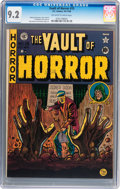 Golden Age (1938-1955):Horror, Vault of Horror #15 (EC, 1950) CGC NM- 9.2 Off-white to whitepages....