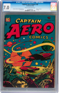Golden Age (1938-1955):Science Fiction, Captain Aero Comics #26 (Holyoke Publications, 1946) CGC FN/VF 7.0Cream to off-white pages....