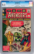Silver Age (1956-1969):Superhero, The Avengers #1 (Marvel, 1963) CGC VF+ 8.5 Cream to off-whitepages....