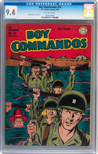 Boy Commandos #10 (DC, 1945) CGC NM 9.4 Off-white pages
