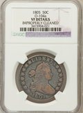Early Half Dollars: , 1805 50C -- Improperly Cleaned -- NGC Details. VF. O-104a. NGCCensus: (12/877). PCGS Population (41/291). Mintage: 211,72...