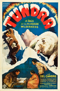 "Tundra (Burroughs-Tarzan-Enterprise, 1936). One Sheet (27"" X 41"")"