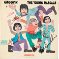Music Memorabilia:Autographs and Signed Items, Young Rascals Band Signed Groovin' LP (Atlantic 8148,1967)....