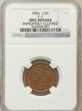 Half Cents: , 1856 1/2 C Brown -- Improperly Cleaned -- NGC Details. UNC. C-1.NGC Census: (4/196). PCGS Population (7/120). Mintage: 40...