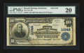 National Bank Notes:Kentucky, Russell Springs, KY - $10 1902 Plain Back Fr. 632 The First NB Ch.# 11348. ...