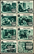 """Movie Posters:Serial, Junior G-Men (Universal, 1940). Lobby Card Set of 8 (11"""" X 14"""").Chapter 3 -- """"Human Dynamite."""". ... (Total: 9 Items)"""
