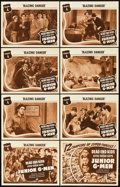 "Movie Posters:Serial, Junior G-Men (Universal, 1940). Lobby Card Set of 8 (11"" X 14"").Chapter 4 -- ""Blazing Danger."". ... (Total: 9 Items)"