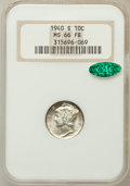 Mercury Dimes: , 1940-S 10C MS66 Full Bands NGC. CAC. NGC Census: (240/88). PCGSPopulation (543/137). Mintage: 21,560,000. Numismedia Wsl. ...