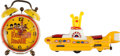 Music Memorabilia:Memorabilia, Beatles Yellow Submarine Vintage Toy and Alarm Clock (c.1968-69)... (Total: 2 Items)